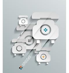 Phone 3d paper concept vector image