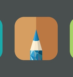 Polygonal Pencil Icons with geometrical figures vector