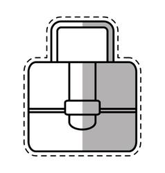 Portfolio suitcase travel business shadow vector