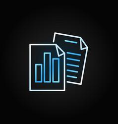reports creative line icon on dark vector image