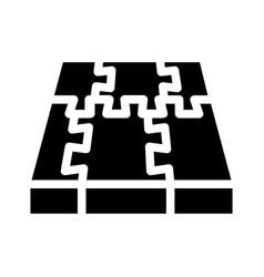 Rubber cover floor glyph icon vector