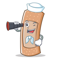 sailor band aid character cartoon vector image