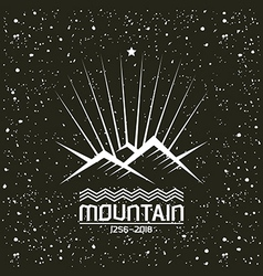 Shining mountain emblem vector