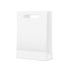 shopping bag mockup - half side view vector image