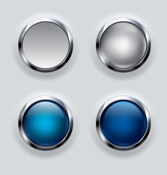 Silver button background vector