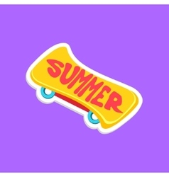 Skate Board Bright Color Summer Inspired Sticker vector