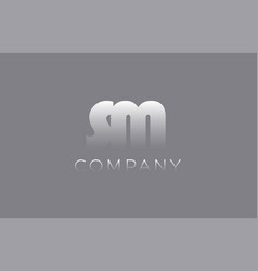 Sm s m pastel blue letter combination logo icon vector