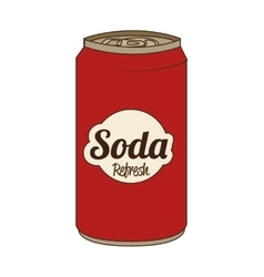 Soda can isolated flat icon vector image