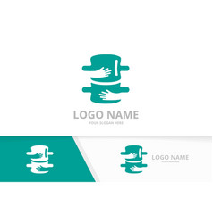 spine and embrace logo combination vector image
