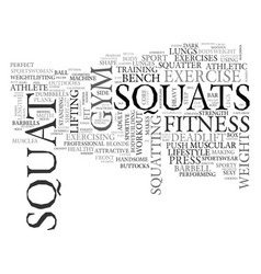 Squatting word cloud concept vector