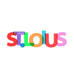 St loius name city on a white vector