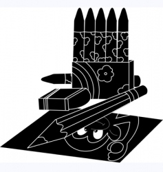study equipments vector image vector image