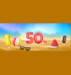 Summer discount sale vector