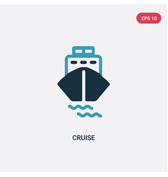 Two color cruise icon from summer concept vector