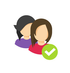 two people or person social group icon vector image