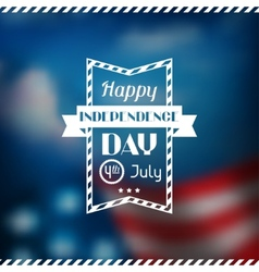 United states america independence day greeting vector