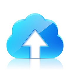 Upload Cloud Icon vector image