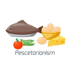 Vegetarian food diet types vector