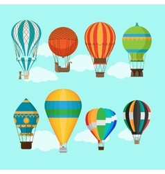 Vintage hot air balloons vector image