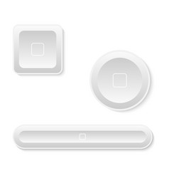 white button set four your web design vector image