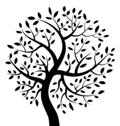 Black Tree icon vector image
