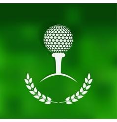 golf symbol green blurred background vector image vector image
