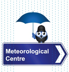 METEOROLOGICAL CENTRE SIGN vector image