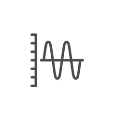 sound graph line icon vector image vector image