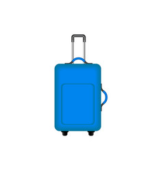 travel suitcase in blue design vector image vector image