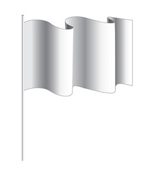 White banner with flag vector image