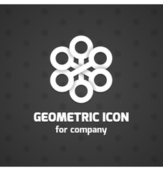 Abstract icon element for business name vector image vector image