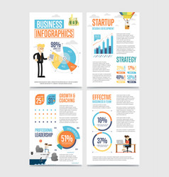 business infographics banner set with charts vector image vector image