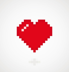 Digital heart vector image