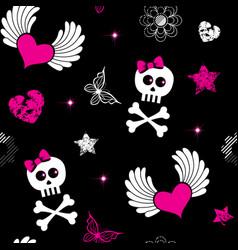 emo symbols background vector image vector image