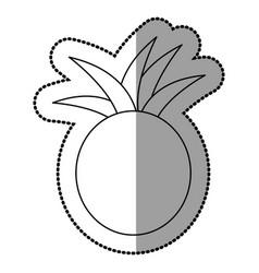 figure pineapple fruit icon stock vector image