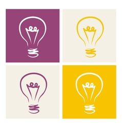 Light bulb icon symbol on colorful backgrounds vector image vector image
