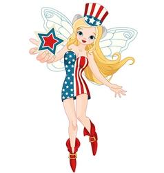 Patriotic Fairy vector image vector image