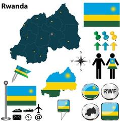 Rwanda map vector image vector image
