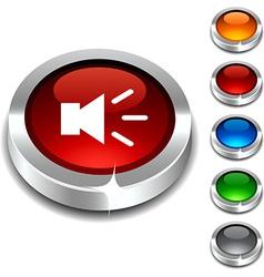 Sound 3d button vector image