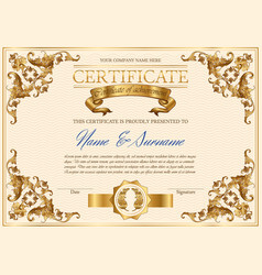 vintage certificate vector image vector image