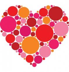 circle heart vector image vector image