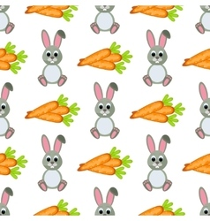 Happy Easter Seamless Pattern Flat Icons Spring vector image vector image