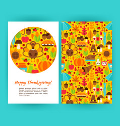 happy thanksgiving flyer template vector image