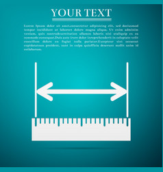 measuring height and length ruler straightedge vector image vector image