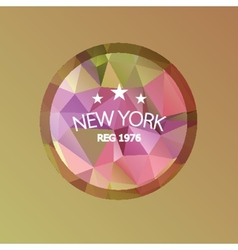 New York Abstract geometric banner colorful retro vector image vector image