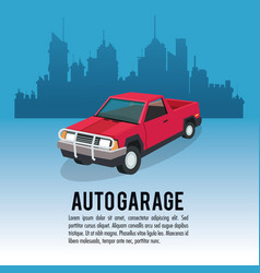auto garage car design vector image