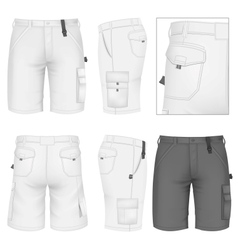 Mens Bermuda shorts design templates vector image