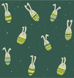 rabbits background vector image vector image