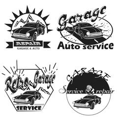 Set of car service labels emblems and design elem vector image vector image