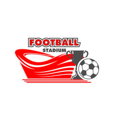 soccer cup match football arena icon vector image